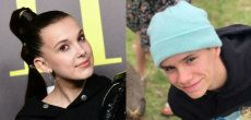 Londres: Millie Bobby Brown et Romeo Beckham en couple