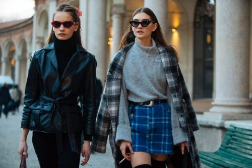 See what the models are wearing off-duty in Milan!