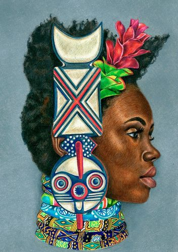 African Cultural Inspired Drawings By Josh Sessoms