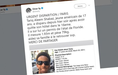 Disparition d'un adolescent à Paris: Omar Sy se mobilise
