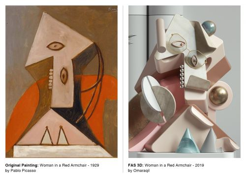 Picasso's Portraits Turned into 3D Sculptures