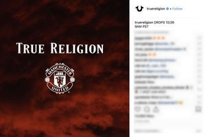 Une collection denim True Religion/Manchester United